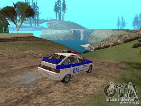 DPS VAZ 21124 para vista lateral GTA San Andreas
