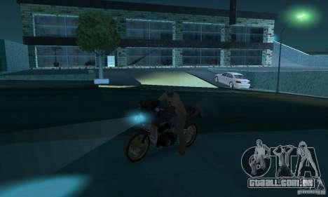Lâmpadas de néon cor para GTA San Andreas por diante tela