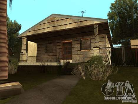 Retekstur casas em Groove Street para GTA San Andreas quinto tela