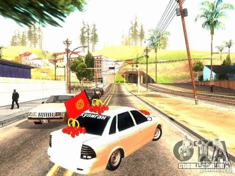 LADA 2170 casamento para GTA San Andreas traseira esquerda vista
