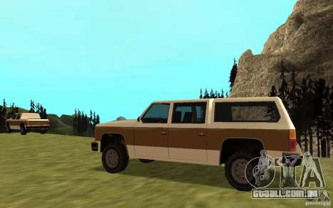 Um civil do FBI Rancher para GTA San Andreas traseira esquerda vista