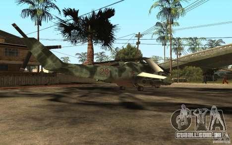 MI-24A para GTA San Andreas traseira esquerda vista