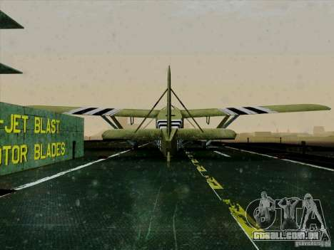 2 Linhas de aeronaves do jogo por trás do inimig para GTA San Andreas vista traseira