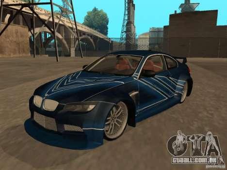 BMW M3 E92 Tunable para GTA San Andreas interior