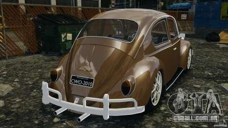 Volkswagen Fusca Gran Luxo v2.0 para GTA 4 traseira esquerda vista