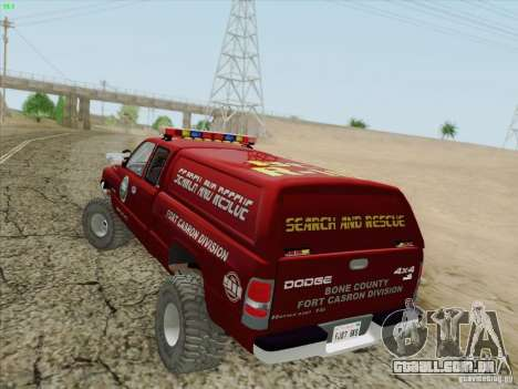 Dodge Ram 3500 Search & Rescue para as rodas de GTA San Andreas