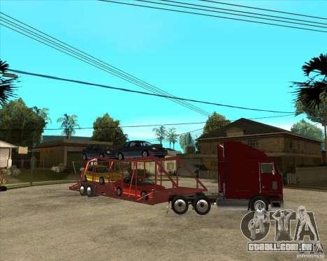 Caminhão semi-reboque para GTA San Andreas vista superior