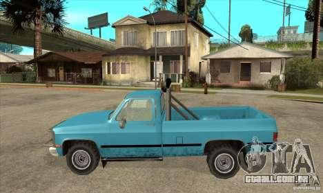 GMC Sierra 2500 para GTA San Andreas esquerda vista