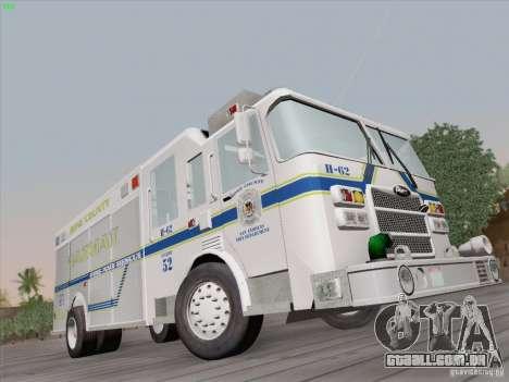Pierce Fire Rescues. Bone County Hazmat para GTA San Andreas vista direita