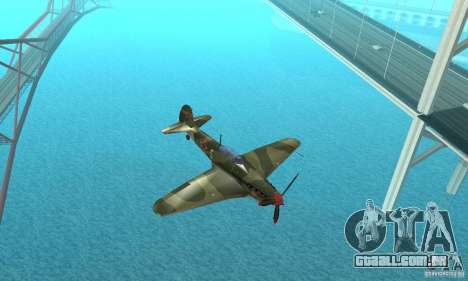 Yak-9, durante a II Guerra Mundial para GTA San Andreas vista interior