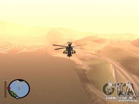 MI 28 Havok para GTA San Andreas vista direita