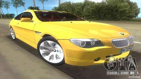 BMW 645Ci para GTA Vice City vista traseira