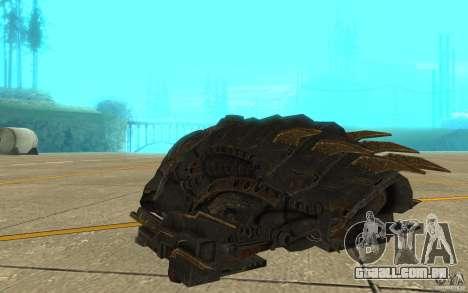 Nave predador do jogo Aliens vs Predator 3 para GTA San Andreas vista direita