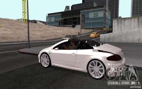 Peugeot 307CC BMS para GTA San Andreas vista superior