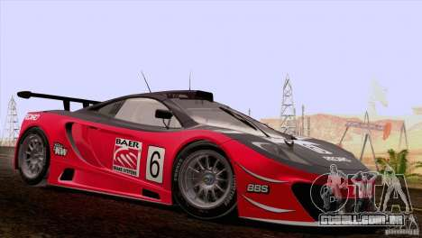 McLaren MP4-12C Speedhunters Edition para vista lateral GTA San Andreas
