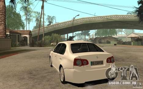 Volkswagen Jetta 2008 para GTA San Andreas traseira esquerda vista