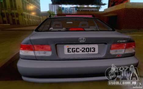 Honda Civic 1999 para GTA San Andreas vista traseira