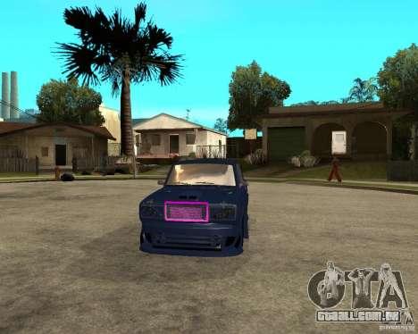 Vaz 2105 rua corrida Tuning para GTA San Andreas vista traseira