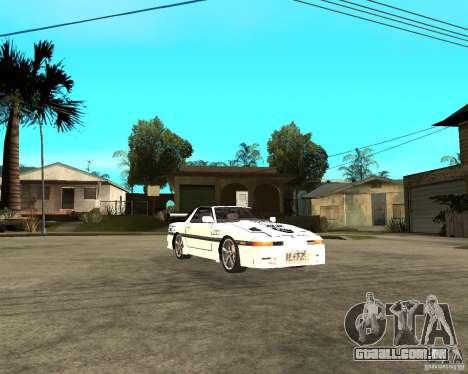 Toyota Supra MK3 Tuning para GTA San Andreas vista traseira