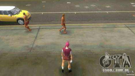 Girl Player mit 11skins para GTA Vice City twelth tela