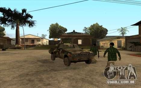 DATSUN 620 para GTA San Andreas esquerda vista