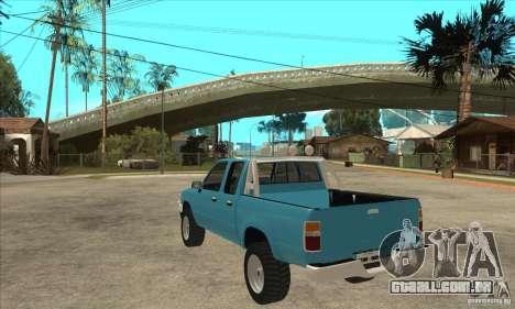 Toyota Hilux CD para GTA San Andreas traseira esquerda vista