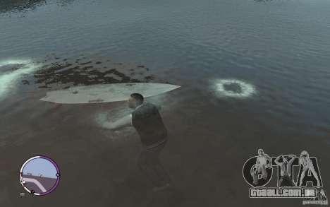 Prancha de surf para GTA 4 traseira esquerda vista