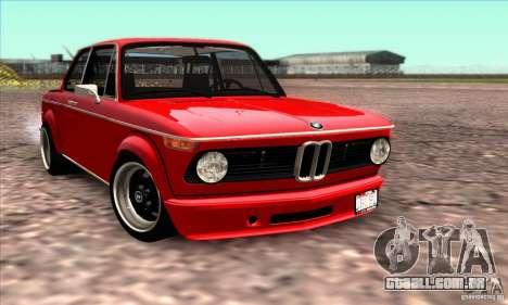 BMW 2002 Turbo para GTA San Andreas vista superior