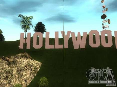 O letreiro de Hollywood para GTA San Andreas