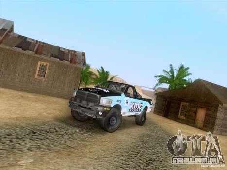 Dodge Ram Trophy Truck para GTA San Andreas vista direita