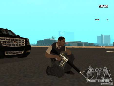 White Red Gun para GTA San Andreas quinto tela