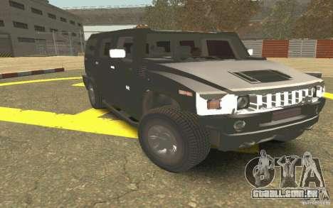 Hummer H2 Stock para GTA San Andreas vista interior