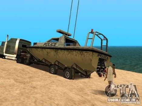 Reboque de barcos para GTA San Andreas vista direita