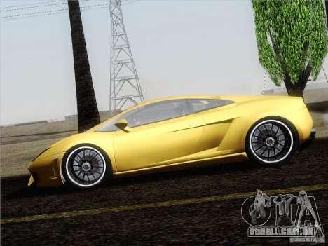 Lamborghini Gallardo LP640 Vallentino Balboni para GTA San Andreas vista traseira