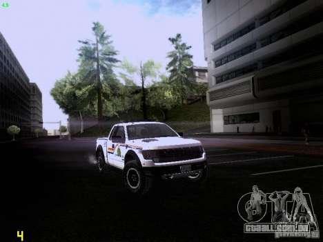 Ford Raptor Royal Canadian Mountain Police para GTA San Andreas traseira esquerda vista