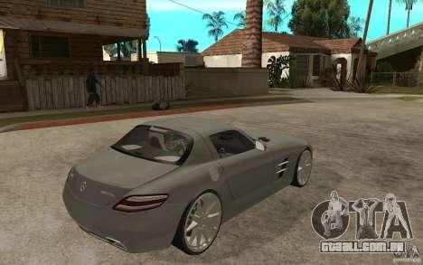 Mercedes-Benz SLS para GTA San Andreas vista direita