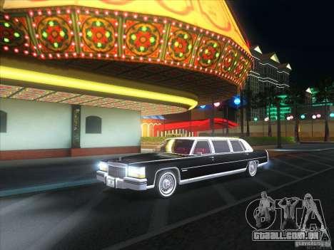 Cadillac Fleetwood Limousine 1985 para GTA San Andreas vista direita