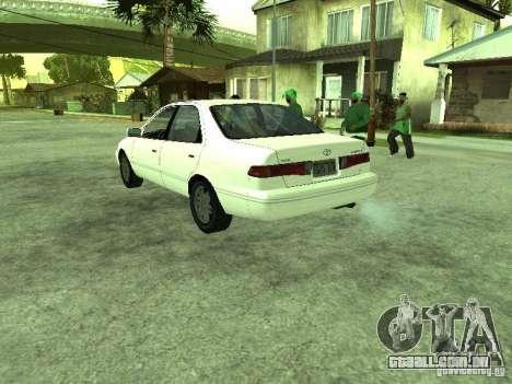 Toyota Camry 2.2 LE para GTA San Andreas traseira esquerda vista