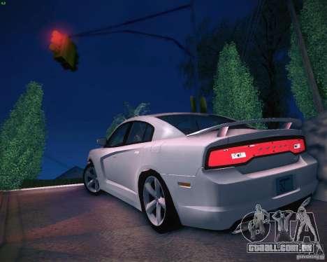 Dodge Charger 2011 v.2.0 para GTA San Andreas traseira esquerda vista