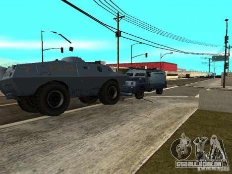 SWAT e FBI caminhão andam pelas ruas de para GTA San Andreas por diante tela