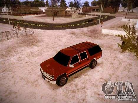 Chevrolet Suburban 1998 para GTA San Andreas esquerda vista