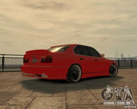 Bmw 535i (E34) tuning para GTA 4 vista de volta