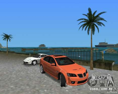 Pontiac G8 GXP para GTA Vice City