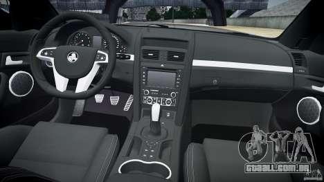 Holden Commodore SS (CIVIL) para GTA 4 vista superior