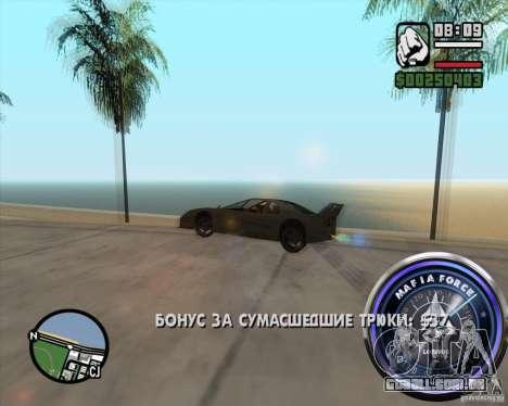 Velocímetro-2 para GTA San Andreas por diante tela