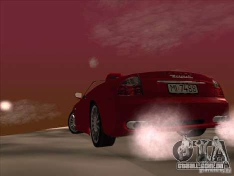Maserati Spyder Cambiocorsa para GTA San Andreas vista superior