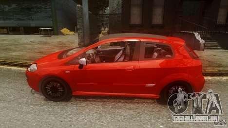 Fiat Punto Evo Sport 2010 para GTA 4 esquerda vista