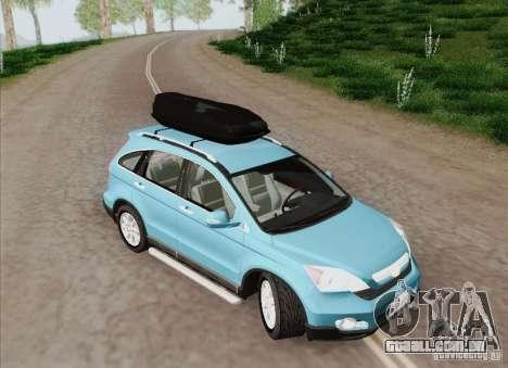Honda CRV 2011 para GTA San Andreas vista interior