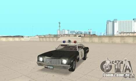 Chevrolet Monte Carlo 1970 Police para GTA San Andreas