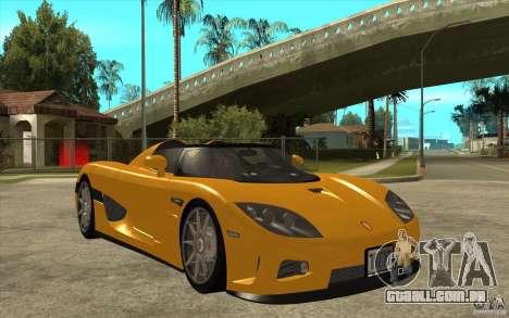 Koenigsegg CCX - Stock para GTA San Andreas vista traseira